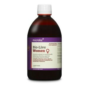Microbz Bio-Live Women 475ml - Live Active Cultures for Women's Health (Reduced)
