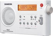 Sangean Pr-D7 Am/Fm Digital Rechargeable Portable Radio - White , New, Free Ship