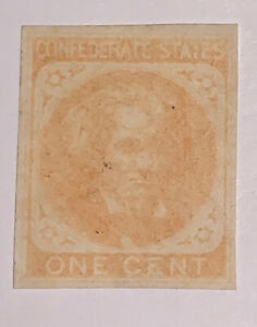 Travelstamps US CSA Stamps Scott #14 Mint Hinged Confederate Stamp Cat $110