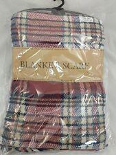 BUR Blanket Scarf PLAID Large Checked Wrap Shawl Winter/Fall Warm