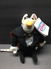 Disney The Great Mouse Detective RATIGAN bean bag plush Collector Owned!!!!