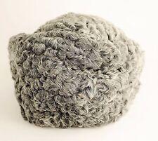 VINTAGE RUSSIAN PMK Curly Lamb Fur Pillbox Hat - Gray & White Natural Fur Hair