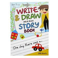 A4 Children's Write and Draw Your Own Story Book - 100 Sheets - UK Made