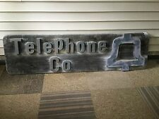 """Large Vintage Brass Letters BELL SYSTEMS TELEPHONE COMPANY SIGN - 80"""" Long"""