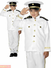 Boys Sailor Captain Costume Child Marine Navy Officer Fancy Dress Uniform Outfit