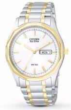 Citizen EcoDrive Two Tone Watch White Dial BM8434-58A