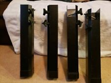 4 piece, black, metal, bed frame risers