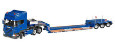 NZG 657 Scania R3-Axle Tractor with Nooteboom X3-A Lowloader- Blue - 1/50 MIB