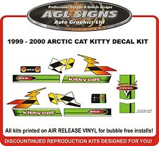 1999 2000  ARCTIC CAT Kitty Cat  Reproduction Decal Kit