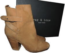 $595 Rag & Bone Kinsey' Bootie Beige Suede Ankle Boot Buckles Tan-Beige Shoes 39
