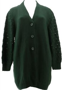 Antthony Glorious Gifts Her Textured Sweater Jacket Evergreen M NEW 679-250