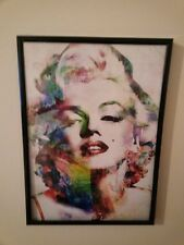 MARILYN MONROE WATERCOLOUR IMAGE A4 FRAMED Print (New) 260gsm