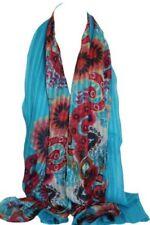 Écharpes et châles étoles bleu à motif Floral pour femme