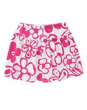 NWT Gymboree Girls Hop N Roll Pink Drawn Floral Skirt Size 6