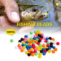 100PCS Sabiki Mixed Lure Spinners Fishing Rigging Plastic Beads Fishing Tools r