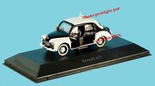RENAULT 4 cv police française acier voiture 1 / 43e échelle 1955 new in box