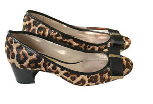 MICHAEL Michael Kors Women's Kiera Calf-Hair Mid Pump Natural Cheetah Size 9M