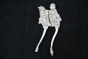 Antique, Handcrafted, Alloyed SILVER Nut Cracker Cutter Sarota India, Human Fig.
