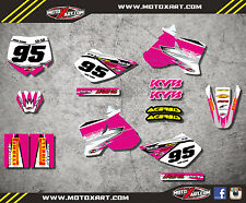 Custom graphics for KTM 50 SX 2002 - 2008 SHOCKWAVE PINK style full sticker kit