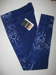 Reebok Sport Printed Tight Leggings Girl's Pants Blue / Purple NEW WITH TAGS