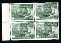 Austria Stamps # 608 XF OG NH Block of 4 Scott Value $52.00