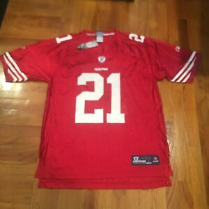 NWT Red San Francisco 49ers Frank Gore #21 Football Jersey Reebok LARGE FREESHIP