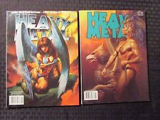 2001 HEAVY METAL Magazine July & Sept VF+ LOT of 2 Altuna Tip-In Plate