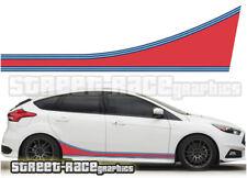 Ford Martini side racing stripes 003 vinyl graphics stickers Focus Fiesta Ka