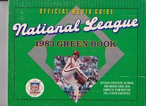 1983 MLB National League Baseball Green Fact Book