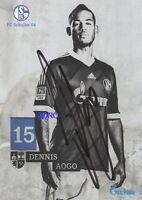 Dennis AOGO + FC Schalke 04 + Saison 2013/2014 + Original Autogrammkarte