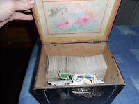 JOB LOT OF VINTAGE CIGARETTE CARDS IN ANTIQUE BOX 700 CARDS