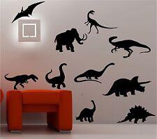 10X DINOSAURS wall art sticker vinyl quote CAR BEDROOM KIDS CHILDRENS NURSERY