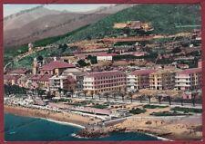 SAVONA PIETRA LIGURE 40 VEDUTA AEREA - SPIAGGIA Cartolina FOTOGRAFICA viagg 1957
