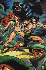 CONAN & RED SONJA vs CIMMERIAN APE Pin Up Poster
