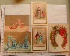 12 BLANK CARDS; SILVER COPPER CLOWN BOYS; 2FANCY GOLD BORDER; FLOWERS STATUE1721