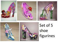 Tinker Bell Shoe Figurine set of 5  Disney Shoes Bradford Exchange