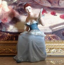 ROYAL DUX Bohemia  LADY With MIRROR Girl Woman Female Porcelain FIGURINE