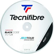 Tecnifibre Black Code Tennis String - 1.24mm/17G - 200m Reel - Black - BlackCode