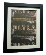 DEPECHE MODE+ULTRA+POSTER+AD+RARE ORIGINAL 1997+FRAMED+EXPRESS GLOBAL SHIP