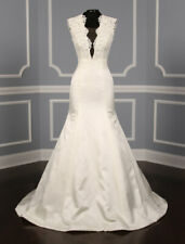Ines Di Santo Attwell Wedding Dress Ivory Silk Sleeveless V Neck Mermaid Lace 8