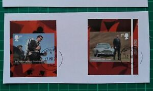 2020 SELF ADHESIVE EX-BOOKLET JAMES BOND ASTON D5 SKYFALL & THUNDERBALL USED