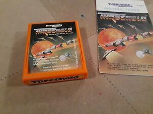 Threshold by Tigervision for ATARI 2600 Cartridge and MANUAL