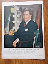 1946 Lord Calvert Whiskey Ad Distinguished Actor Mr John Boles