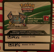 Pokemon TCG ONLINE : CHARIZARD EX BOX & MEWTWO EX BOX Codes Sent-Near/Instantly.
