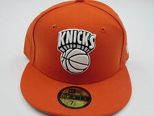 NY Knicks Retro NBA Orange Throwback NEW ERA 59Fifty Fitted Hat Cap 7 1/4 SALE