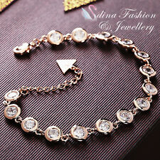 18K Gold Plated Simulated Diamond Round Cut Gorgeous & Sparkling Tennis Bracelet