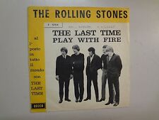 """ROLLING STONES: Last Time 3:35-Play With Fire 2:15-Italy 7"""" 65 Decca F 12104 PSL"""
