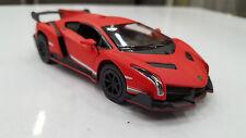 Lamborghini Veneno ROSSO KINSMART giocattolo modello 1/36 scala pressofuso