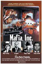 Mafia Inc. Capone Lansky Siegel Luciano movie poster style print