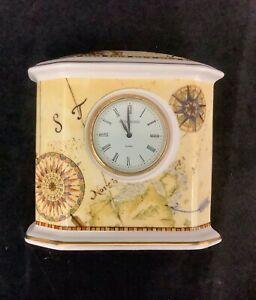 Wedgwood bone china Atlas natural desk clock